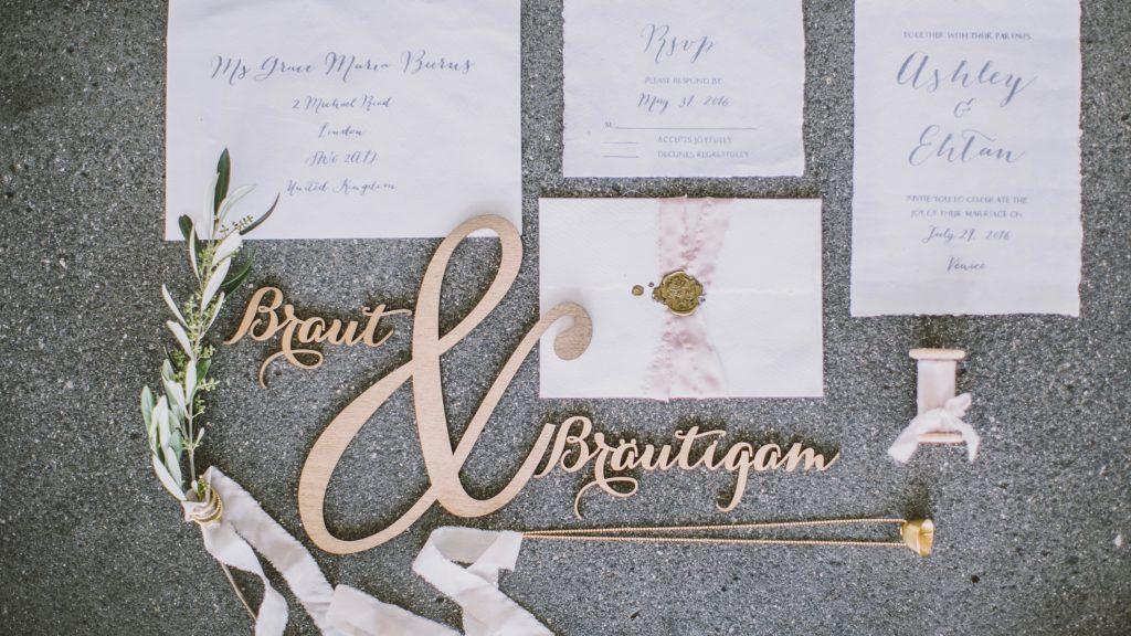 Papeterie Hochzeitsdekoration