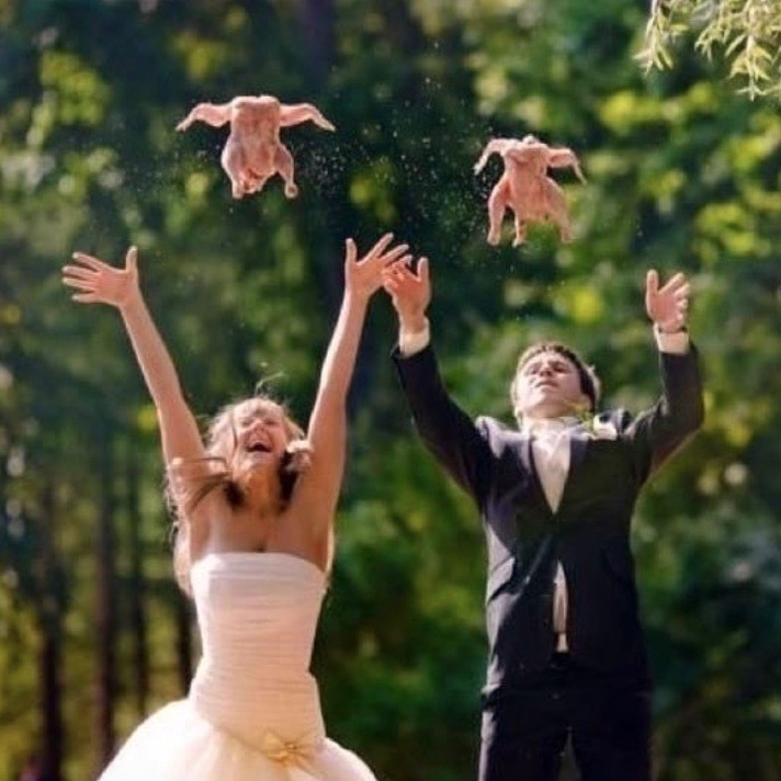 Crazy Hochzeitsfotos