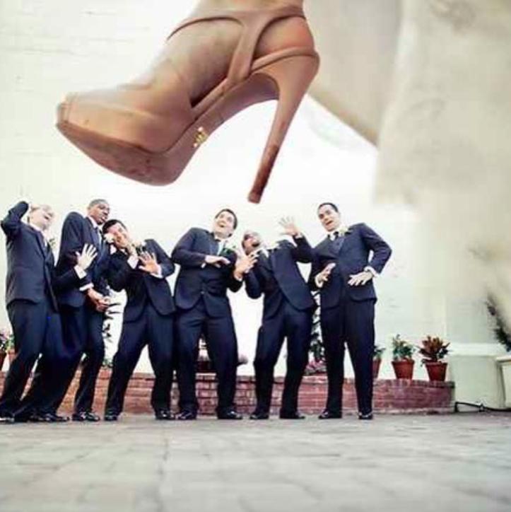 Verrücktes Hochzeitsfoto