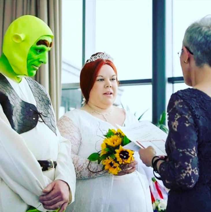 Echte Shrek Hochzeit