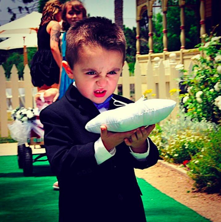 Abgefahrene Hochzeitsfotos
