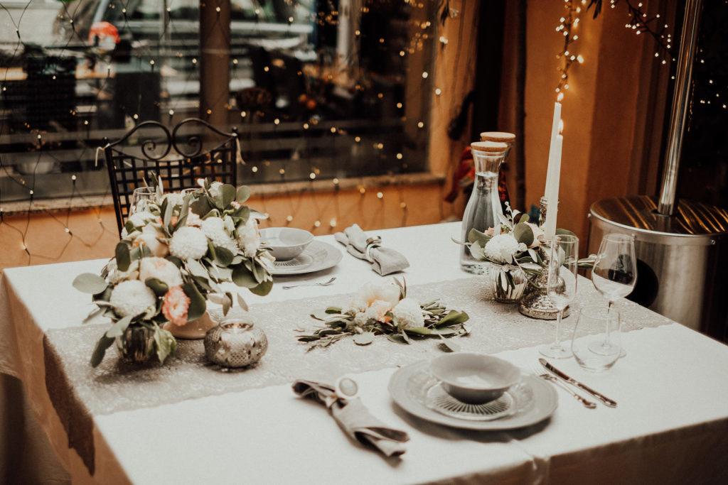 Candlelightdinner Hochzeitstag