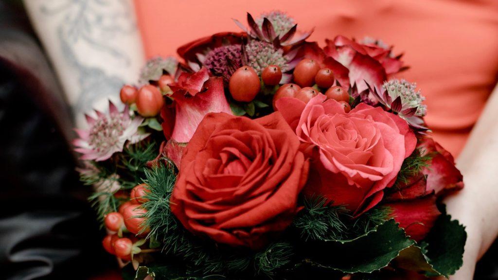 Blumenstrauß Geschenk Hochzeitstag