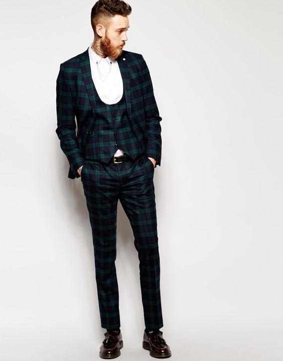 Anzug gemustert