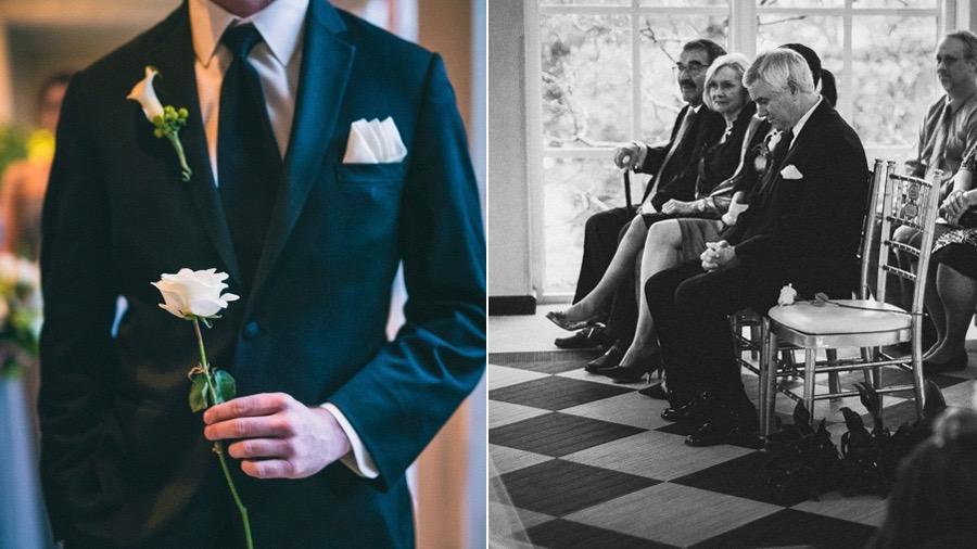 Verstorbenen gedenken Hochzeitstag